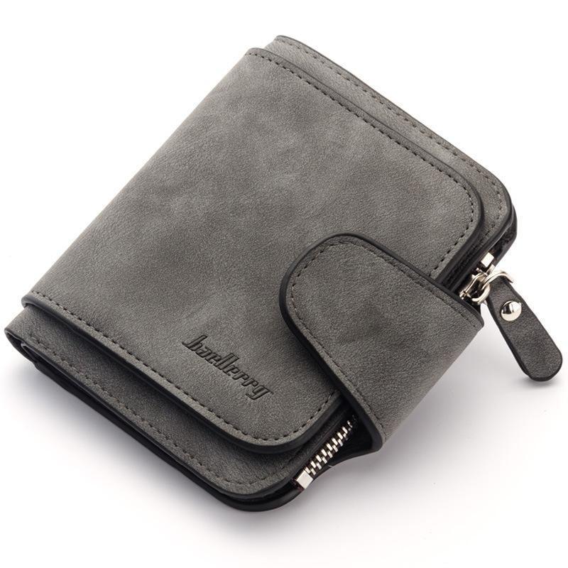 Жіночий гаманець клатч Baellerry Forever Mini балери Темно-сірий Замша PU ViPvse