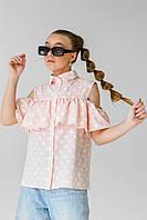Блуза для дівчинки з відкритими плечима р. 134-164 см