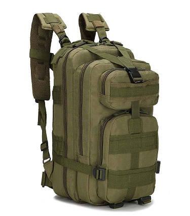 Тактичний військовий похідний рюкзак Military 25 L Хакі Мілітарі / T 423 ViPvse