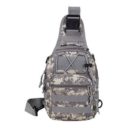Тактична сумка-рюкзак барсетка бананка на одній лямці піксель ViPvse