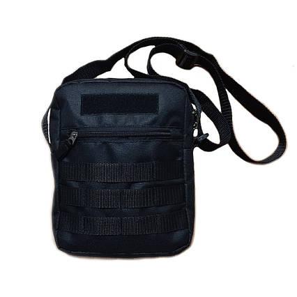 Чорна чоловіча тактична сумка барсетка месенджер ViPvse