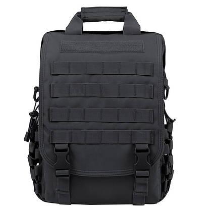 Тактична сумка-рюкзак месенджер портфель Чорний ViPvse