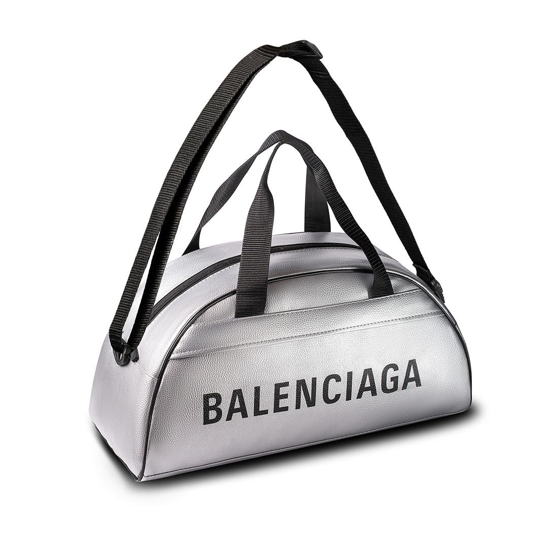 Спортивна фітнес-сумка баленсіага Balenciaga для тренувань Срібло Кожзам ViPvse