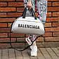 Спортивна фітнес-сумка баленсіага Balenciaga для тренувань Срібло Кожзам ViPvse, фото 2