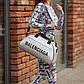 Спортивна фітнес-сумка баленсіага Balenciaga для тренувань Срібло Кожзам ViPvse, фото 5