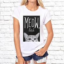 Женская футболка с принтом, Swag Meow, bitch SKL75-293217