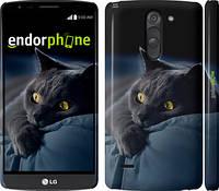 """Чехол на LG G3 Stylus D690 Дымчатый кот """"825c-89"""""""