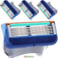 Сменные кассеты картриджы Gillette Fusion 3 шт. (жиллет Фьюжин). Оригинал. Без упаковки, фото 1