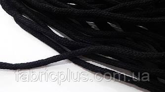 Шнур х/б для толстовок и худи 4 мм черный