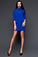 Короткое синее платье - туника Лорен ТМ Жадон 48-50 размеры Jadone