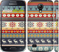 "Чехол на Samsung Galaxy S4 mini Duos GT i9192 Рождественский орнамент ""3303c-63"""