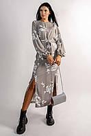 Женственное платье Дейли из великолепной струящейся ткани прямого силуэта 42-56 размер разные цвета