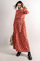 Женственное оригинальное платье Джудит длиной макси 42-56 размер разные цвета