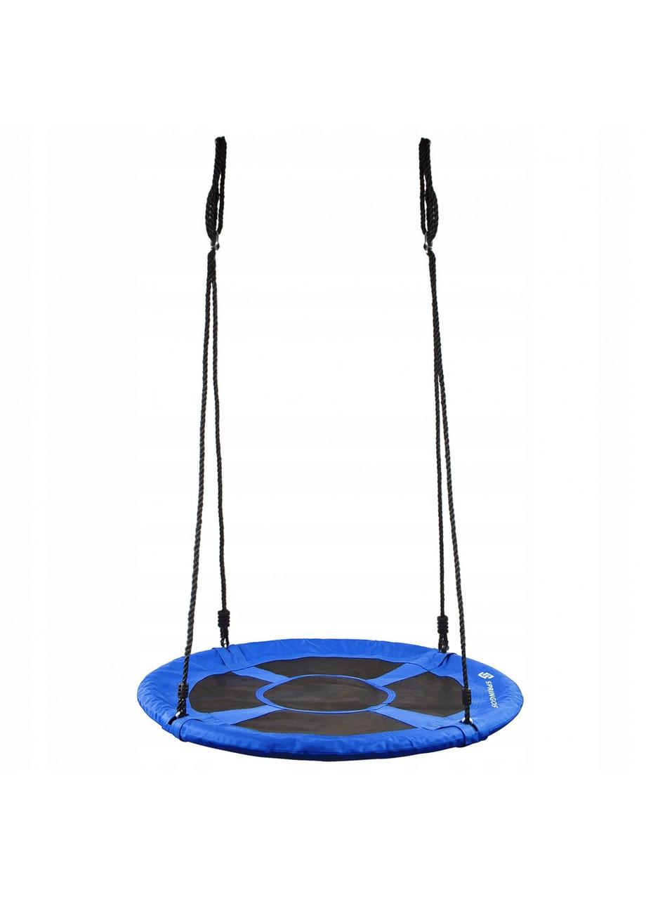 Гойдалка гніздо для дачі саду тераси підвісна регульована Springos 120 см Нейлон Синий (NS016)