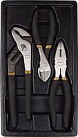 Набір губцевого інструменту в ложементі, 3 предмета T28963 AmPro, фото 1