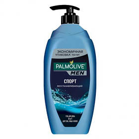 Гель для душа 3 в 1 Палмолив мен Palmolive Men Спорт, восстанавливающий, для тела, лица и волос, 750 мл