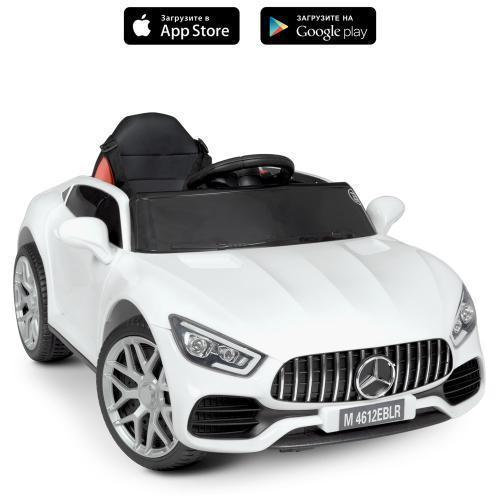 Детский электромобиль (2 мотора по 25W,муз,MP3,TF,USB) Bambi M 4612EBLR-1 Белый