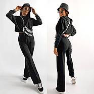 Стильний спортивний жіночий костюм двійка, фото 3