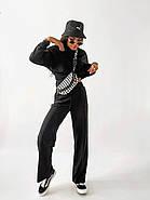 Стильний спортивний жіночий костюм двійка, фото 4