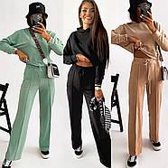 Стильний спортивний жіночий костюм двійка, фото 7