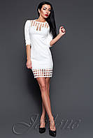 Короткое белое платье - туника Анит ТМ Жадон 42-50 размеры Jadone