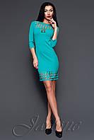 Короткое бирюзовое платье - туника Анит ТМ Жадон 42-50 размеры Jadone