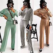 Женский костюм двойка из турецкой двунитки супер качества (худи и штаны), фото 7