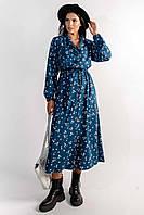 Универсальное повседневное платье Марви макси длины полуприлегающего силуэта 42-56 размер разные цвета