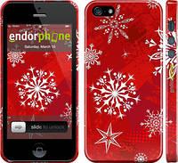 """Чехол на iPhone 5s Снежинка 2 """"3312c-21"""""""