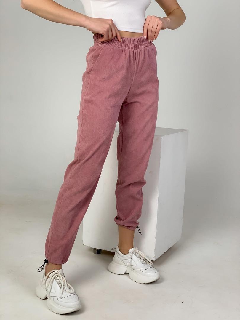 Женские вельветовые штаны на затяжках