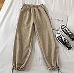 Женские вельветовые штаны на затяжках, фото 9