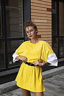 Сукня жіноча жовте Zizi. Жіноче плаття-футболка жовтого кольору.