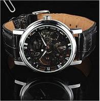 Солидные мужские часы Winner Skeleton Black. Привлекательные, стильные часы. Модные часы скелетоны. Код: КЕ407