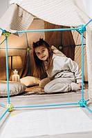 Детский игровой конструктор-халабуда, палатка-вигвам для детей