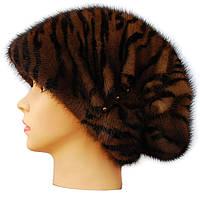Женская норковая шапка Ника (тигр)