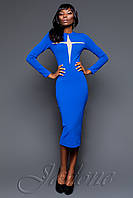 Стильное платье Миранда 2016 цвет электрик ТМ Жадон 42-50 размеры Jadone