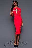 Стильное красное платье Миранда 2016 ТМ Жадон 44-48 размеры Jadone