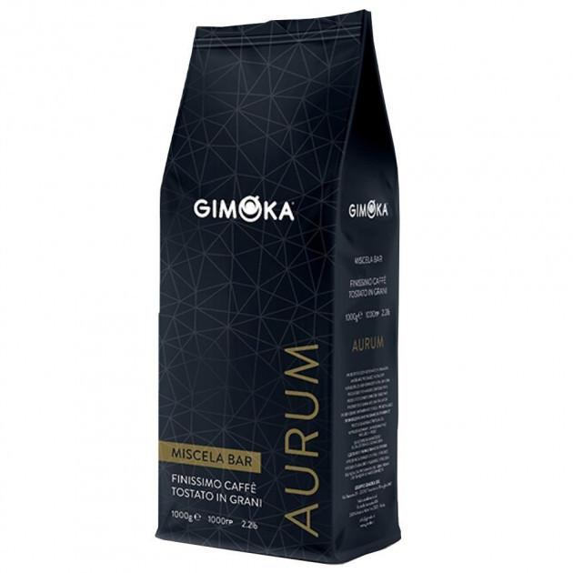 Кава зернова Gimoka Aurum (для Horeca), 1кг, джимока суміш робусти та арабіки темного обсмаження,