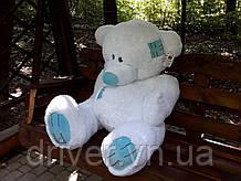 М'яка іграшка ведмедик з латками 150 см, білий