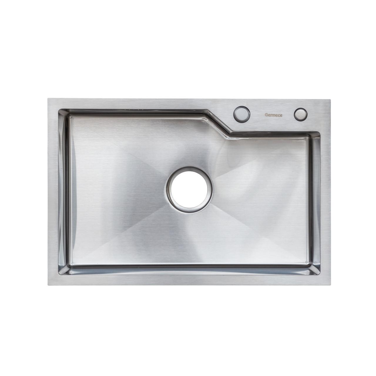Кухонная мойка Platinum Handmade 65 * 43/220 3,0 / 1,5 мм корзина и дозатор в комплекте
