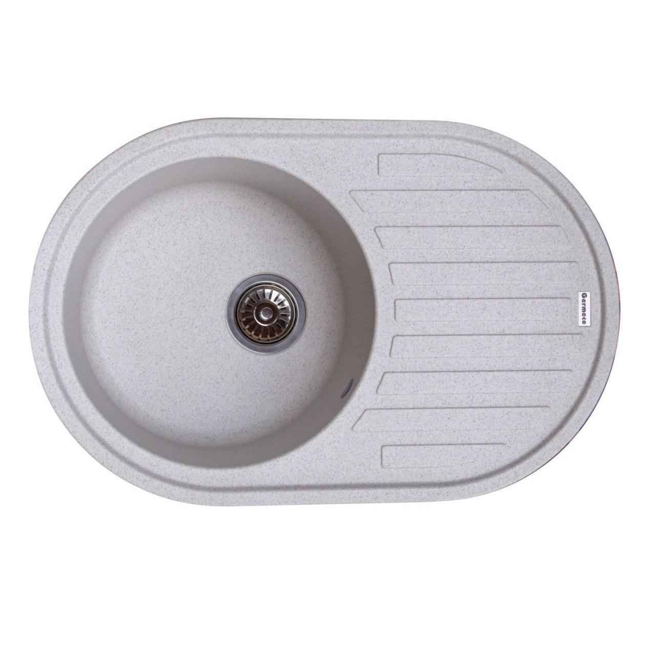 Гранітна мийка для кухні Platinum 7750 LIRA матова Білосніжна