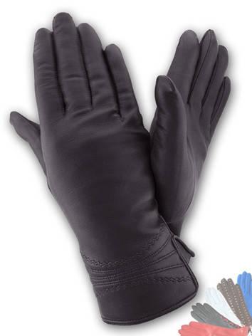 Женские перчатки из натуральной кожи модель 161 на шерстяной подкладке, фото 2