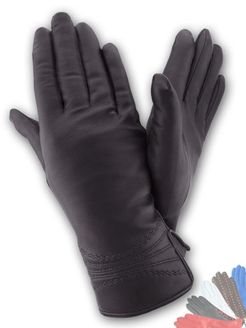Женские перчатки из натуральной кожи модель 161 на шерстяной подкладке
