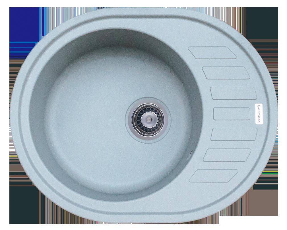 Гранітна мийка для кухні Platinum 6250 SOUL матовий Сірий металік