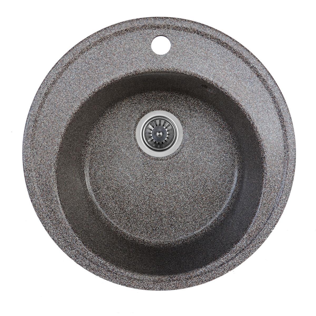 Гранітна мийка для кухні Platinum 510 YARA глянець Мікс