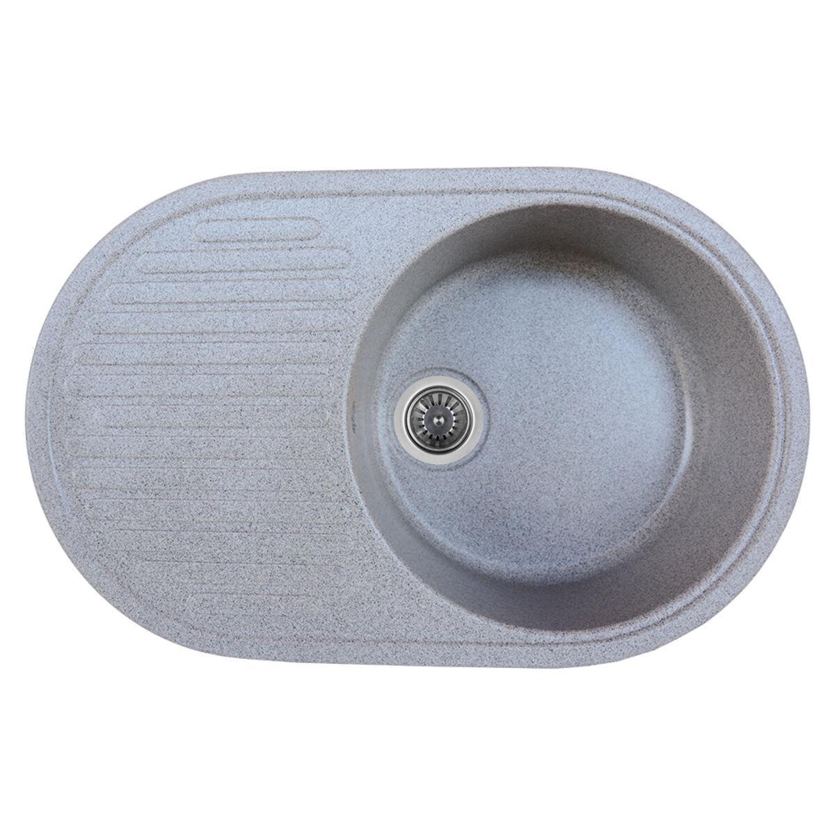 Гранітна мийка для кухні Platinum 7346 ASTORIA глянець Сіра