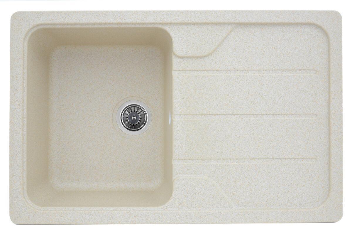 Гранитная мойка для кухни Platinum 7850 VERONA матовая Песок