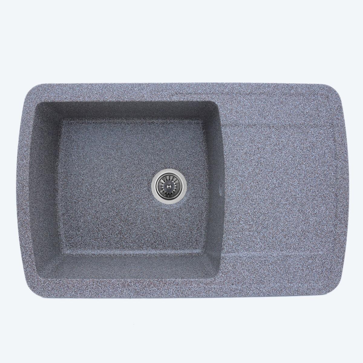 Гранитная мойка для кухни Platinum 7749 ROMA глянец Микс