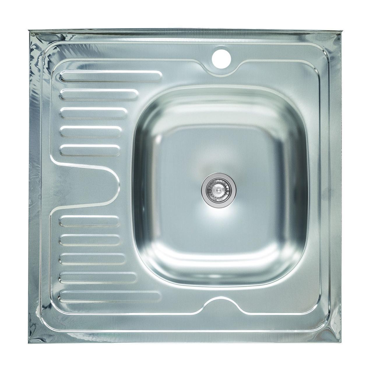 Мойка кухонная из нержавеющей стали Platinum 6060 R 0,4 / 120