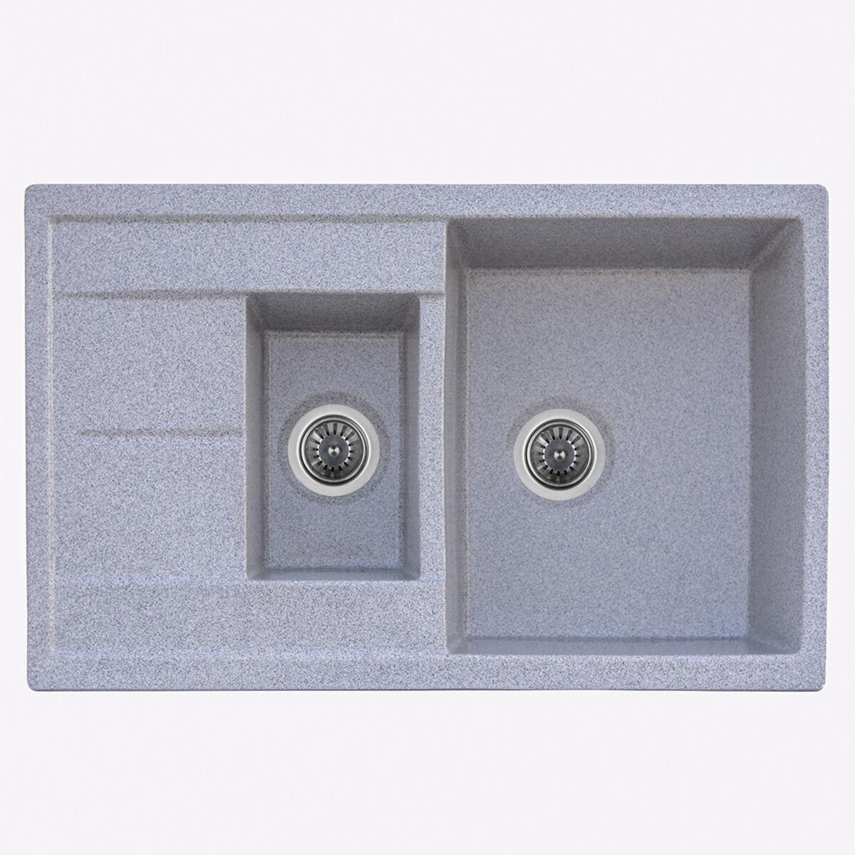 7850W KESSAN глянець Мийка гранітна Platinum (сіра)